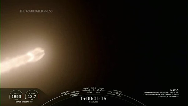 SpaceX launches rocket with batch of satellites