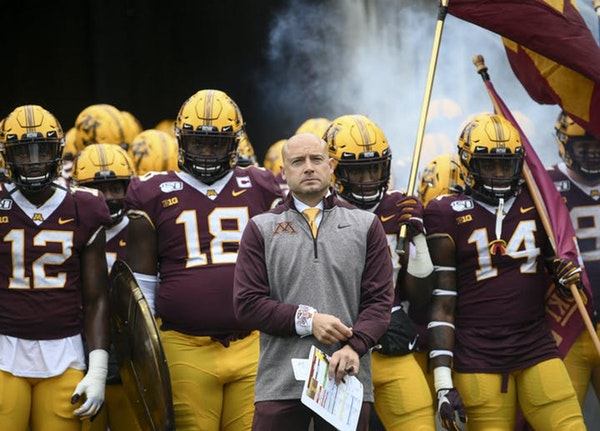 Gophers coach P.J. Fleck, here in a file image from last November.