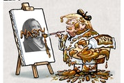 Sack cartoon: Trump portrays the Kamala Harris selection