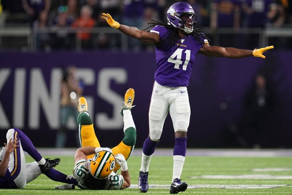 Vikings safety Anthony Harris had seven interceptions last season, including the playoffs.