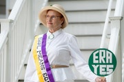Still fighting: Betty Folliard, former legislator and activist for the Equal Rights Amendment, sees the ERA as an extension of women's suffrage.