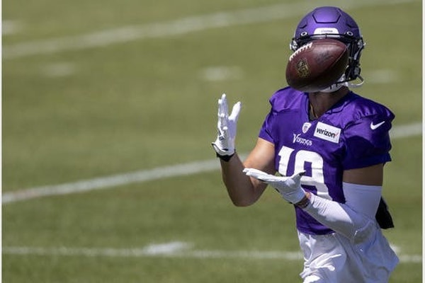 Star Adam Thielen is surrounded by a batch of inexperienced receivers, including first-round pick Justin Jefferson, who are learning the team's offens