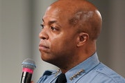 Minneapolis Police Chief Medaria Arradondo, seen on June 12, 2020, spoke to community activists in 2017 about a peer intervention training program use