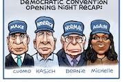 Sack cartoon: DNC opening night, in short