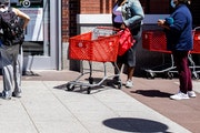People shopped at a Target in Brooklyn, N.Y., in May. Target reported record growth in the second quarter.