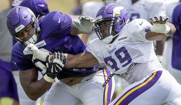 Training camp may look differently than last year for Rashod Hill and Danielle Hunter.