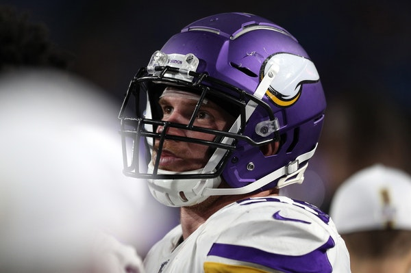 Cameron Smith (59) of the Minnesota Vikings during a preseason game against the Buffalo Bills on August 29, 2019 at New Era Field in Orchard Park, New
