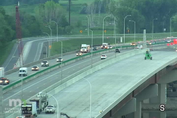 The new southbound I-35W bridge over the Minnesota River opens this weekend. Drivers will find lane shifts as the new bridge opens.