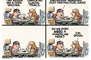 Sack cartoon: No explanation needed