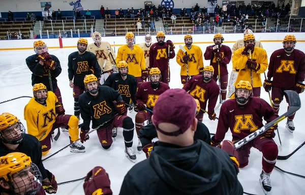 """Gophers coach Bob Motzko expects there will be a men's college hockey season. """"We have to learn from each other,"""" he said, """"and find that path"""