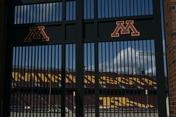 An empty TCF Bank Stadium, home of the Gophers