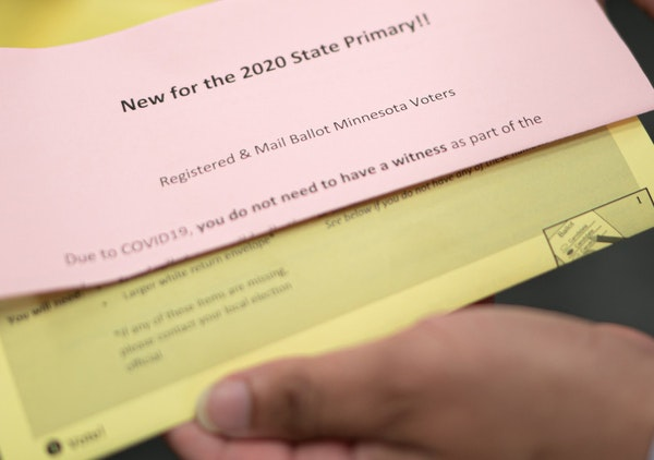 Because of COVID-19, Minnesota is waiving the requirement to have a witness sign mail-in ballots.