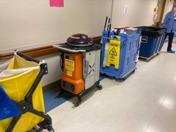 A UV cleaning robot is one of the tools Twin Cities hospitals are using to prevent patients who come to the emergency department from being infected w