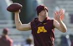 Gophers quarterback Tanner Morgan will play at Northwestern