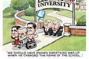 Sack cartoon: Jerry Falwell Jr.