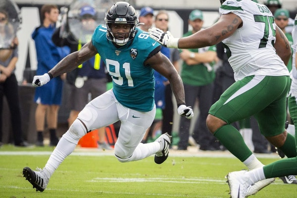 The Vikings swung an early-morning trade on Sunday with the Jaguars for defensive end Yannick Ngakoue, sending a 2021 second-round pick and a conditio
