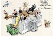 Sack cartoon: Kellyanne Conway's departure
