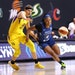 Lynx guard Odyssey Sims drove to the basket in a 96-78 victory over the Los Angeles Sparks on Monday.