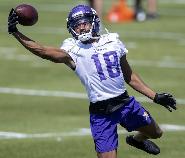 Vikings rookie receiver Justin Jefferson has looked NFL-ready in training camp and should make an immediate impact this season.
