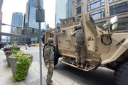 The Minnesota National Guard arrived in downtown Minneapolis on Thursday morning.
