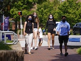 Students at the University of North Carolina in Chapel Hill, N.C.