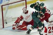Wild beats Detroit, climbs in standings as nine-day break arrives