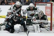 Stalock stays locked in, Wild fends off San Jose to move into playoff spot