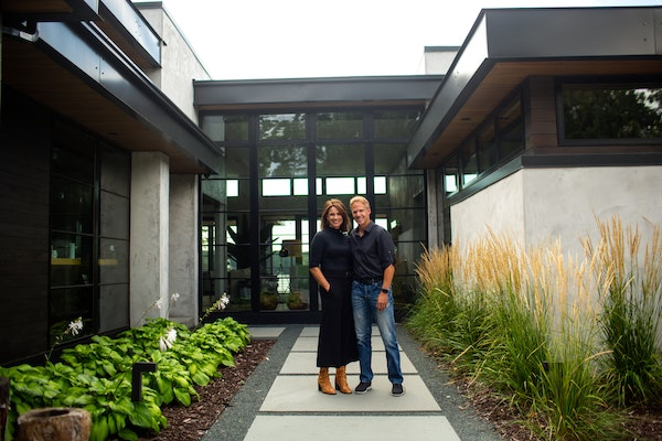 Homeowners Kelly and Kevin McGauley. Kelly owns Leona Rose Interiors.
