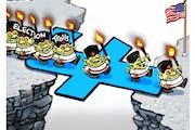 Sack cartoon: Election trolls