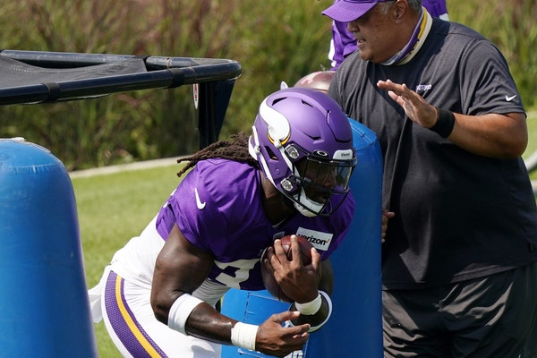 Vikings running back Dalvin Cook at training camp last month.