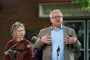 Gov. Tim Walz, pictured here at an event in mid-August, has called the Minnesota Legislature back for a fourth special session in response to the coro