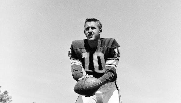 Vikings quarterback Fran Tarkenton in 1961.