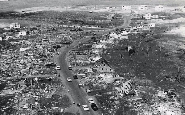 Results of the May 1965 tornado in Fridley. Anoka County Historical Society ORG XMIT: MIN1504301341252304