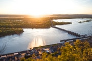 Take in sprawling views of the mighty Mississippi at the Buena Vista Park overlook in Alma, Wis.