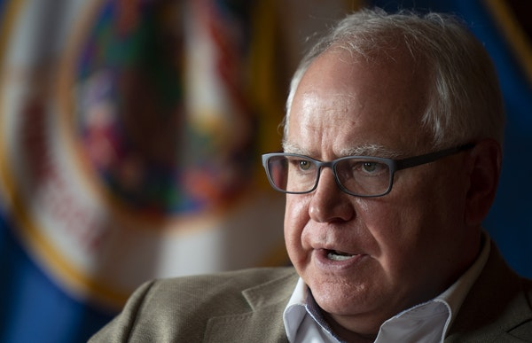 Gov. Tim Walz argued that Minnesota has weathered the medical and economic tolls of the pandemic better than many states.