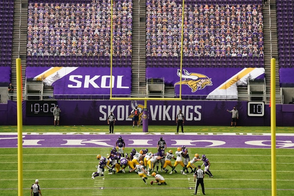 Absence of fans makes for eerily quiet Vikings opener