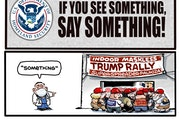 Sack cartoon: If you see something, say something