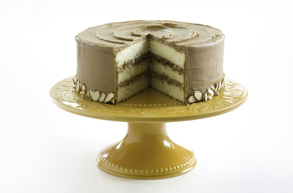 Cook's Country magazine paired its Minnehaha Cake Frosting with a white layer cake.