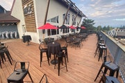 A massive deck is part of the draw at the new Buck '54 Bar & Grill, at the ski hill in Burnsville.