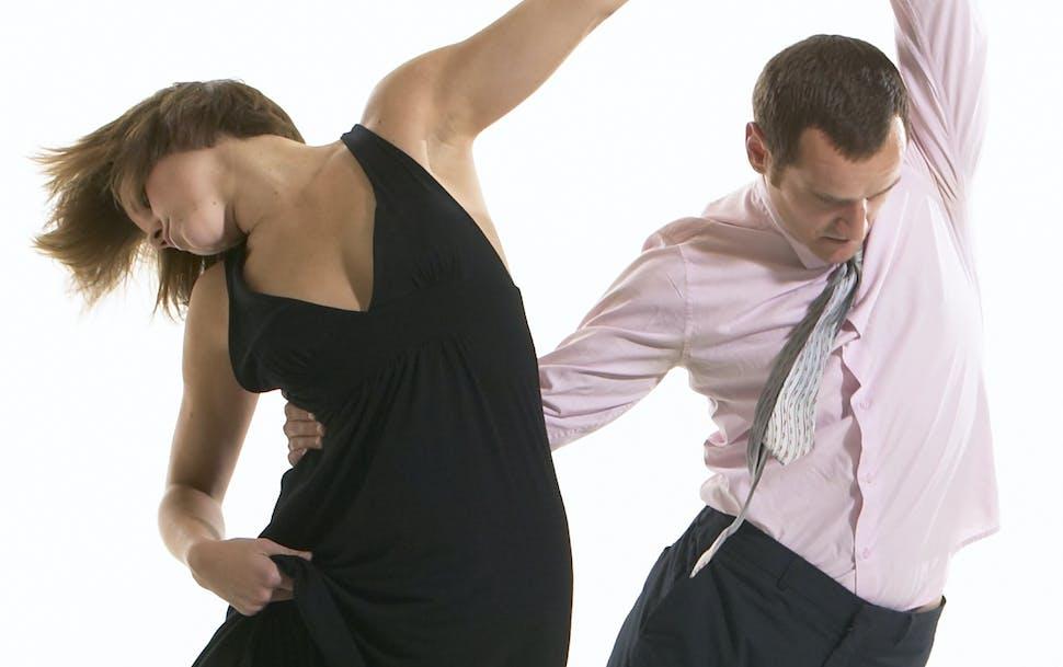 "Gabriel Anderson and Julie McBride in ""Open Eyes,"" part of Arena Dances' Oct. 1 opener."