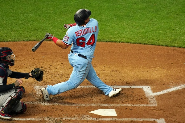 Twins catcher Willians Astudillo hit a solo home run in the second inning, right after Marwin Gonzalez hit a two-run shot.