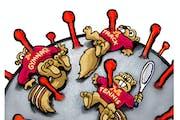 Sack cartoon: University of Minnesota athletics