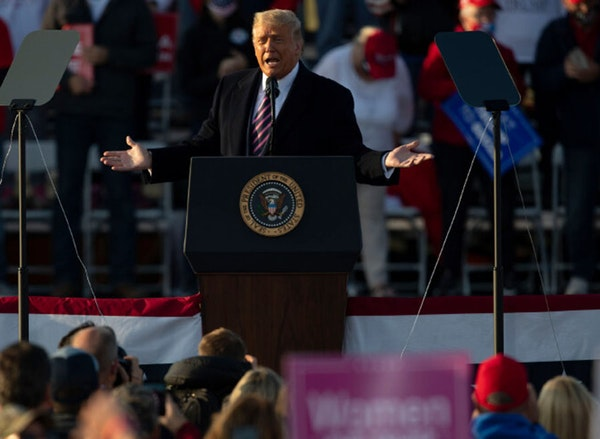 """During his speech Friday night in Bemidji, President Donald Trump praised Confederate Gen. Robert E. Lee by saying: """"He would have won, except for Get"""