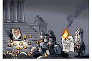 Sack cartoon: RBG and the McConnell rule