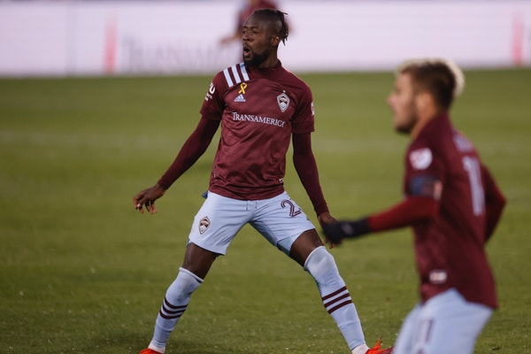 Kei Kamara scored three goals in nine games with the Colorado Rapids this season. Among MLS players with 100 or more career goals, Kamara's rate of