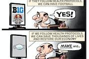 Sack cartoon: If we follow health protocols ...