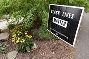 """A """"Black Lives Matter"""" sign in Wethersfield, Connecticut."""