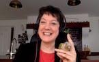 Helen Macdonald showed viewers her pet parrot Birdoole during the Talking Volumes event Sept. 30.
