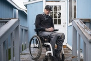 Shawn Olthoff was shot and permanently paralyzed from the waist down by a deputy in Moose Lake, Minn during a raid on his mobile home. Olthoff won a s