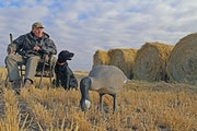 A lifelong duck hunter, Bud Grant at 93 years of age continues his autumn passion, here in western North Dakota on that state's opening day for non-